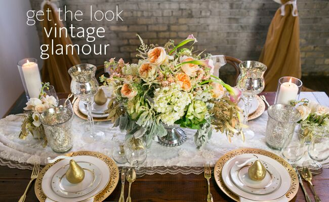 A Modern Update To The Vintage Glam Wedding Reception Table