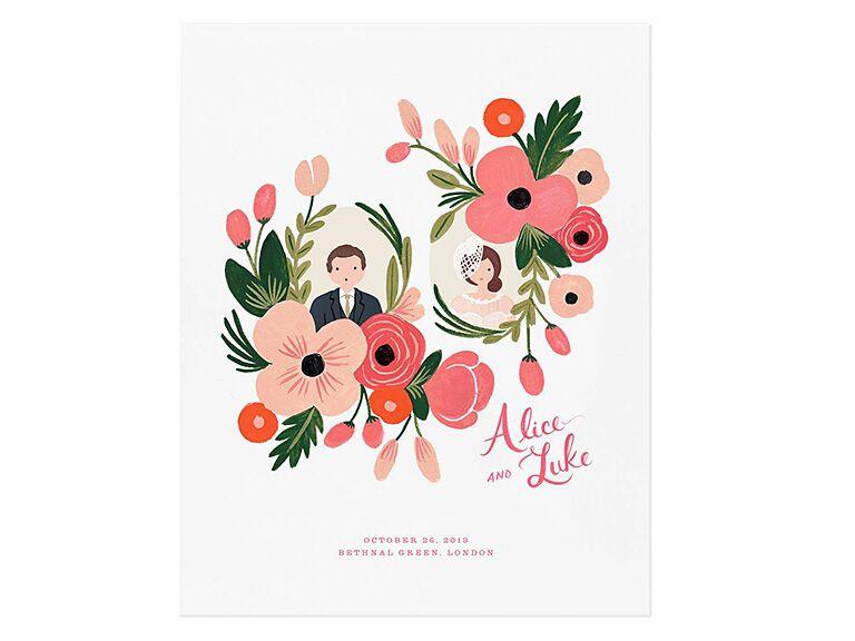 1cc2dd6c7834 Rifle Paper Co. custom floral print engagement gift ideas