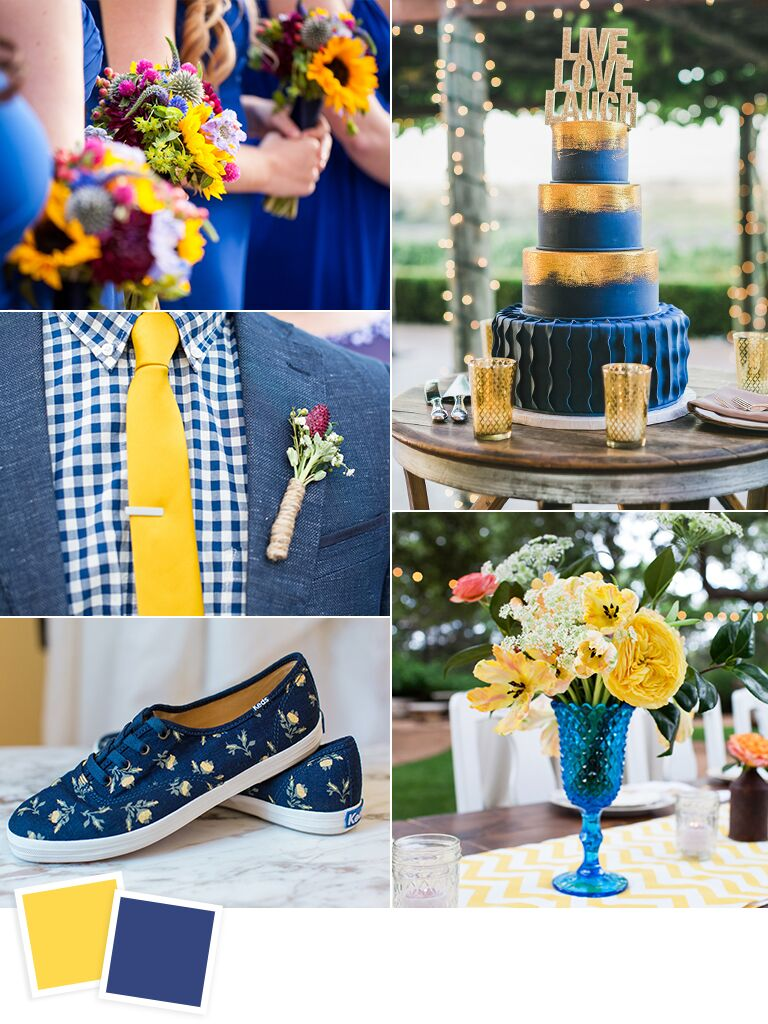 Royal Blue And Yellow Bouquet