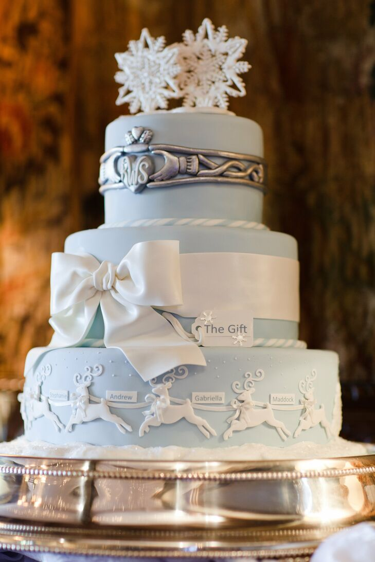 Three-Tier Winter Themed Cake