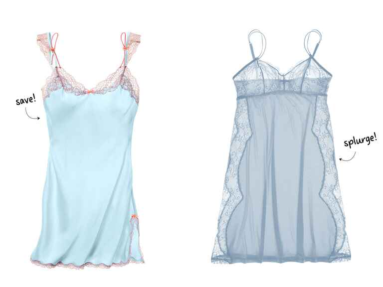 light blue bridal lingerie