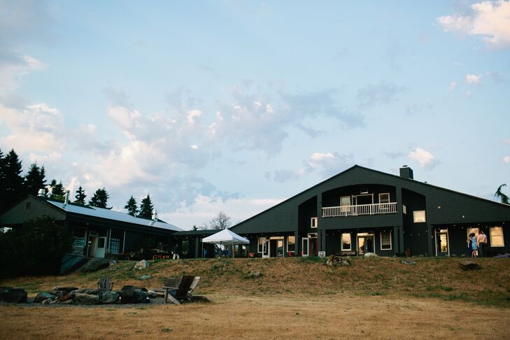"""Old Chaser Farm was the perfect wedding reception location,"" says the couple. ""Owned by the iconic Seattle chef Matt Dillon, Old Chaser Farm is a small, responsible farm that raises vegetables and meat including sheep, goats, pigs and chicken."""