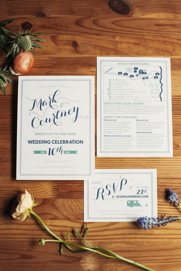 Custom-Designed Camp Wedding Invitations