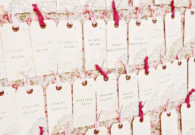 DIY stamped wedding decor: Next Exit Photography / TheKnot.com