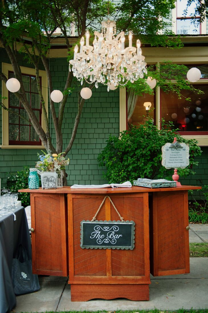 Classic Wooden Wedding Bar