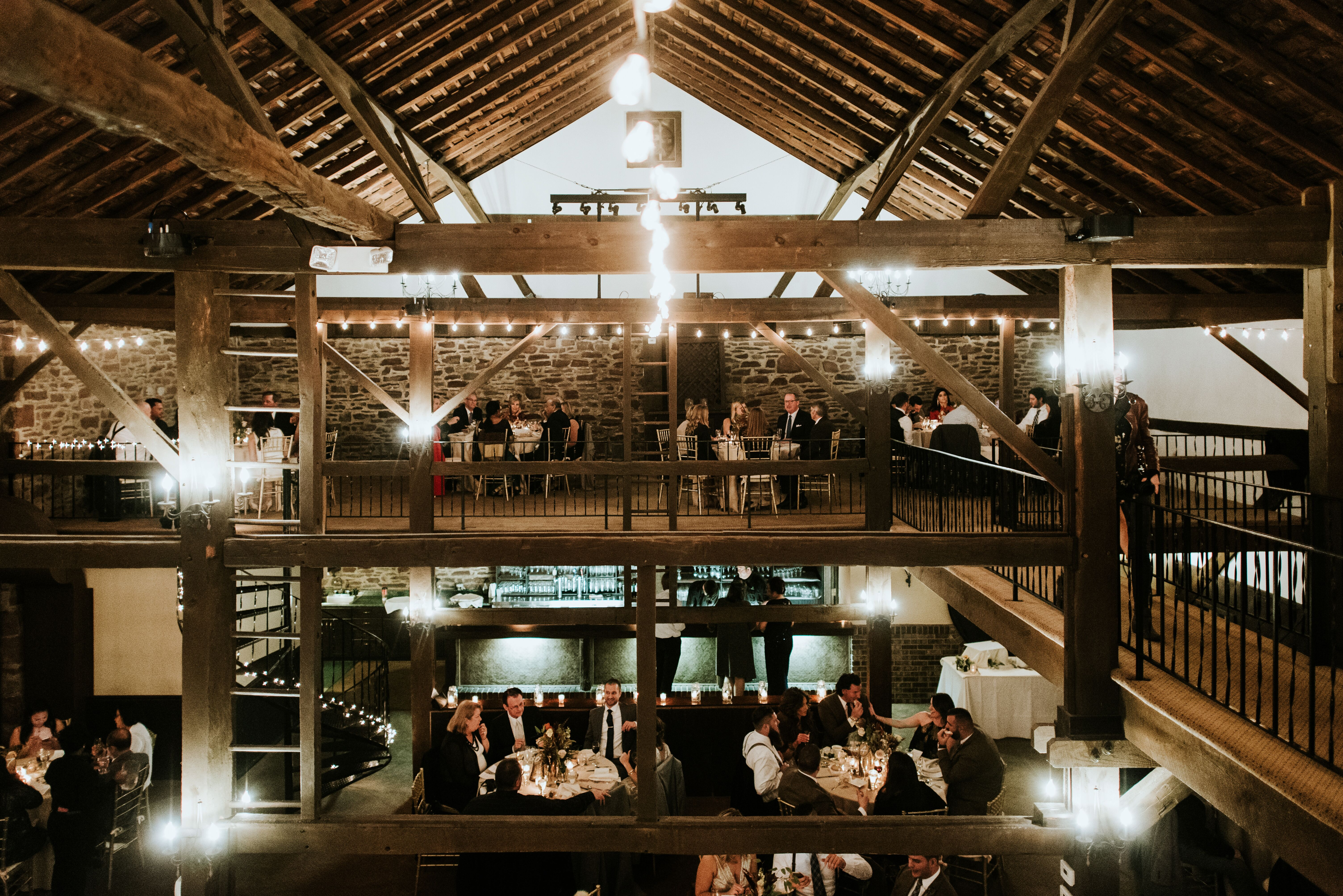Rustic Reception at Barn on Bridge in Collegeville ...