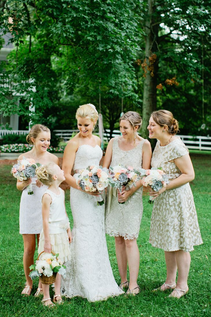 Mismatched neutral bridesmaid dresses ombrellifo Images