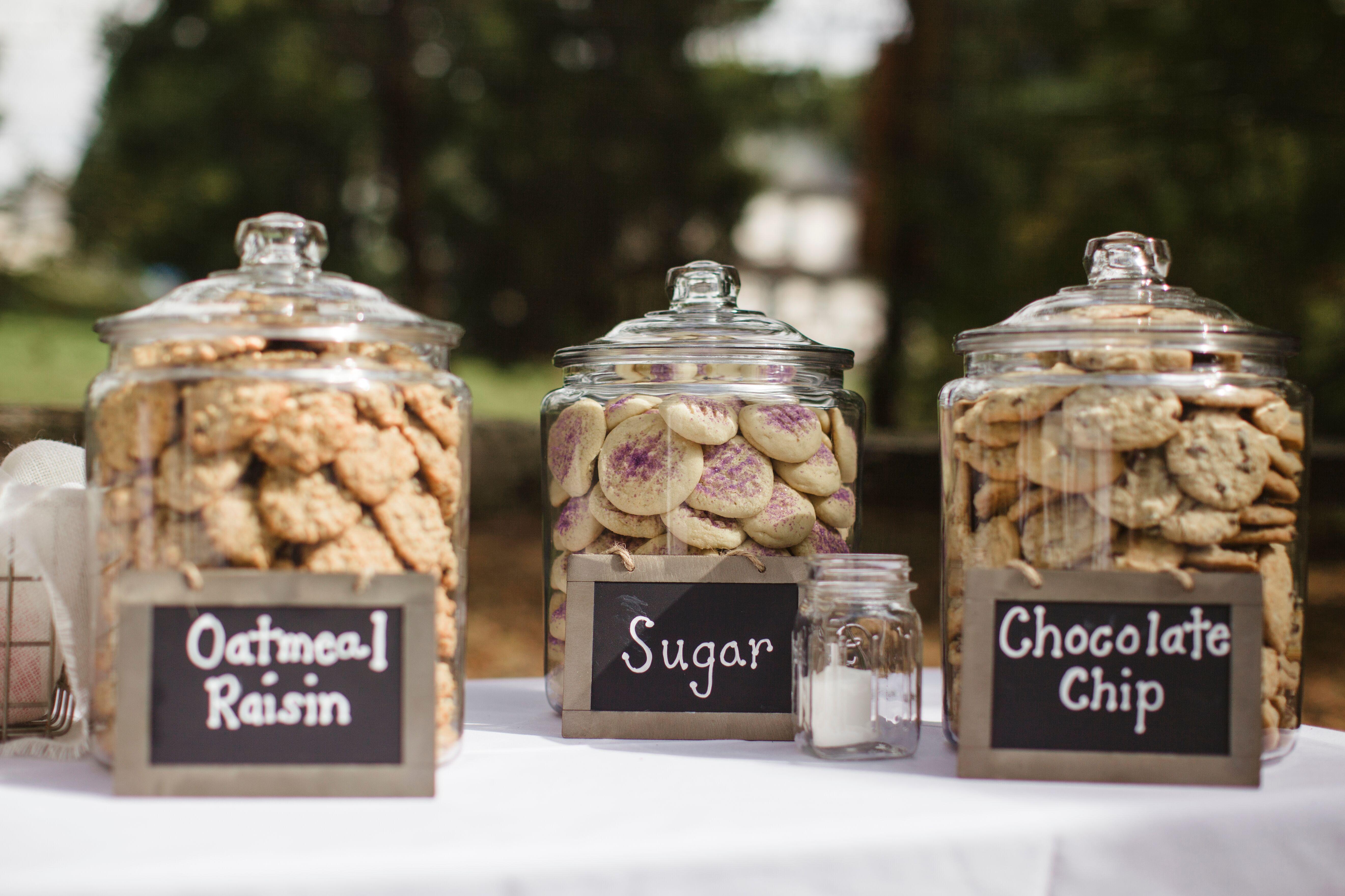 cookie jar wedding favor station