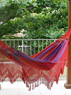 brazilian red fringe hammock 7 hammocks to help you get your nap on  rh   thenest