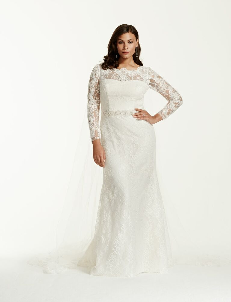20 gorgeous plus size wedding dresses With long sleeve lace wedding dress plus size