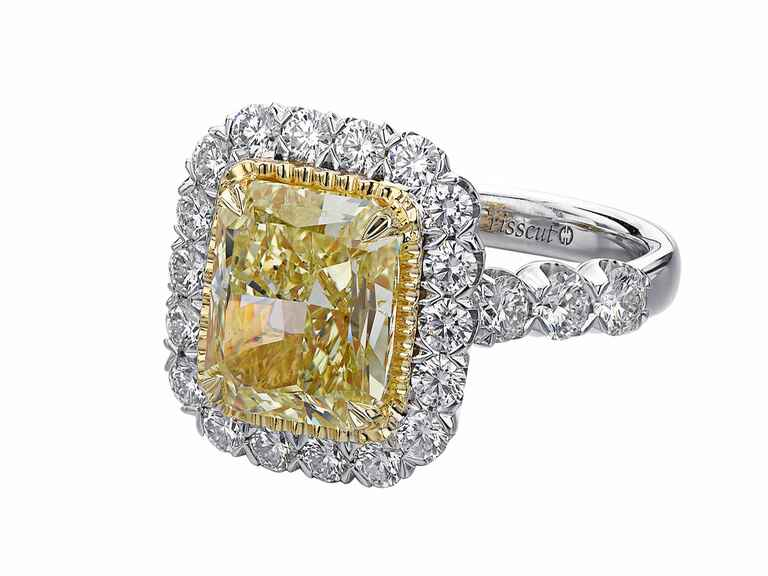 Christopher Designs yellow diamond engagement ring