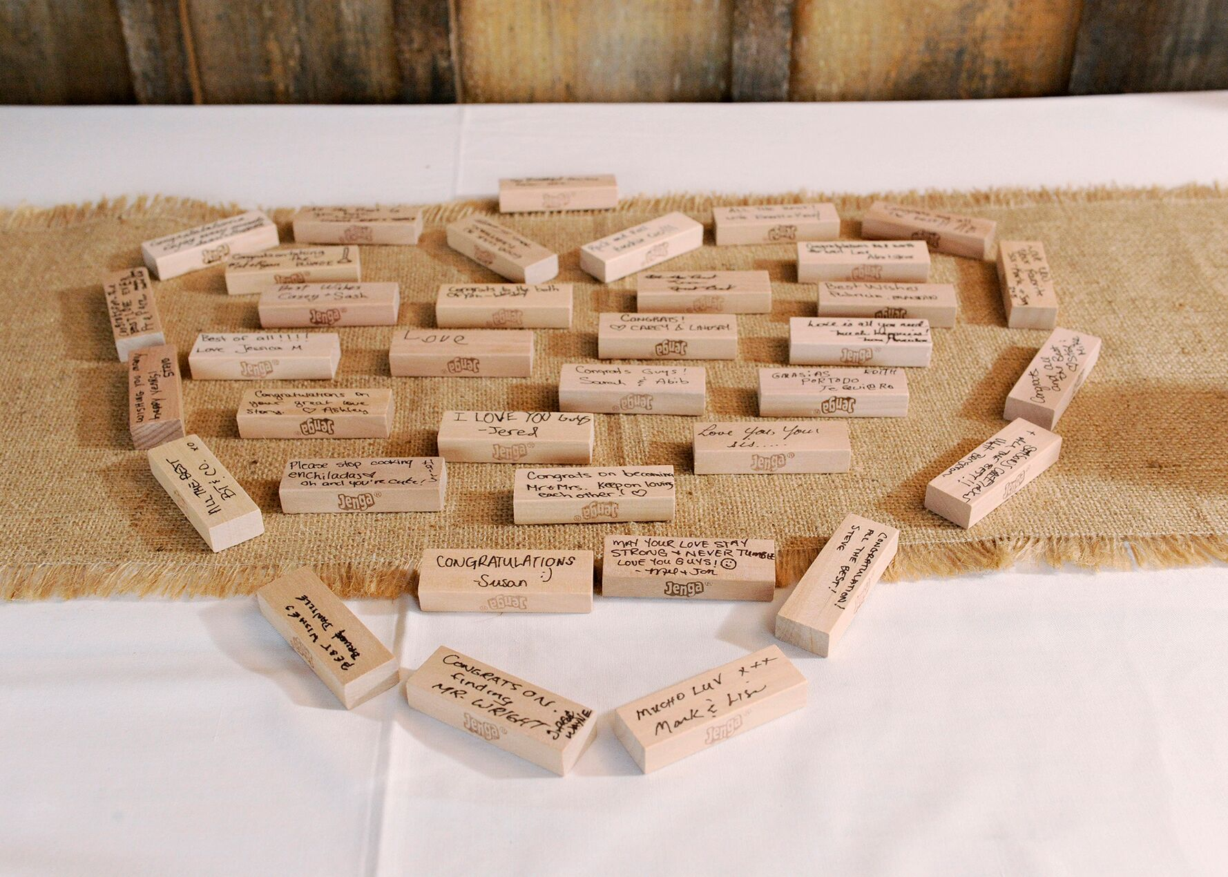 jenga blocks guest book