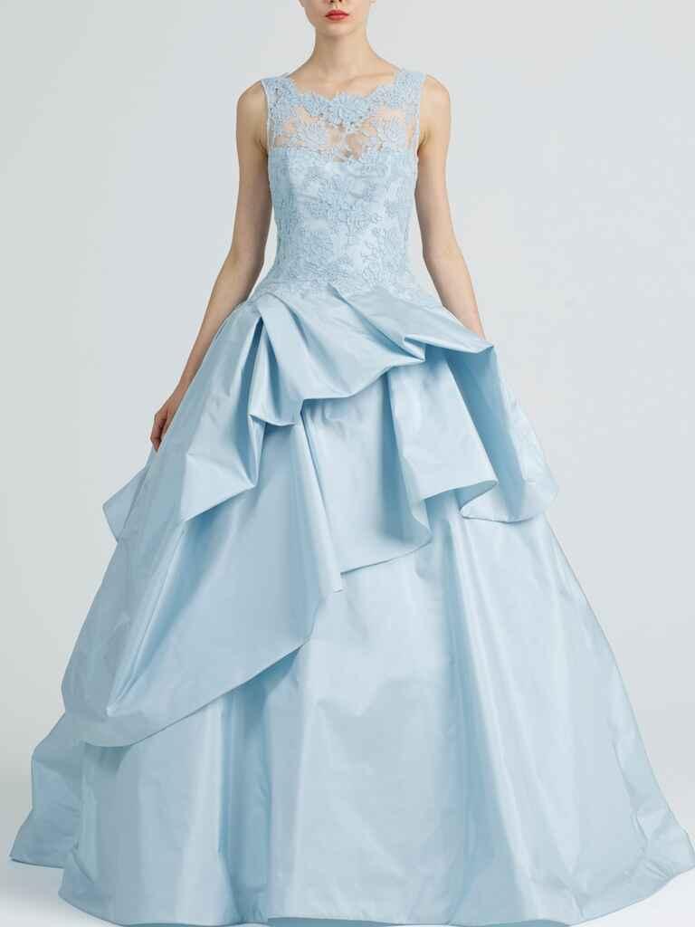 20 dreamy blue wedding gowns for Wedding dress light blue