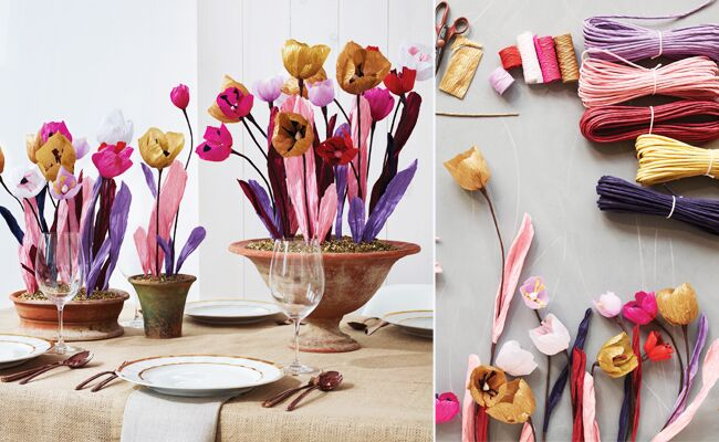 DIY Paper Flower Centerpieces (from the book Paper to Petal!)