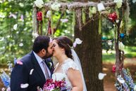 Claudia D'Ambrosio (30 and a financial analyst) and Sapan Dhora (30 and a cyber security engineer) knew they wanted a forest wed