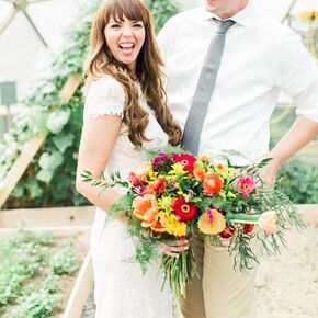 hairstyles down for wedding. greenhouse wedding photos at rodale institute hairstyles down for
