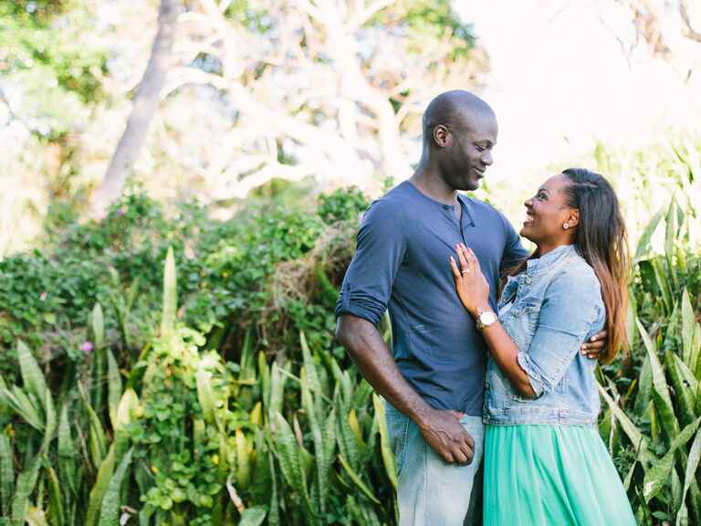 Jupiter, Florida outdoor engagement photography
