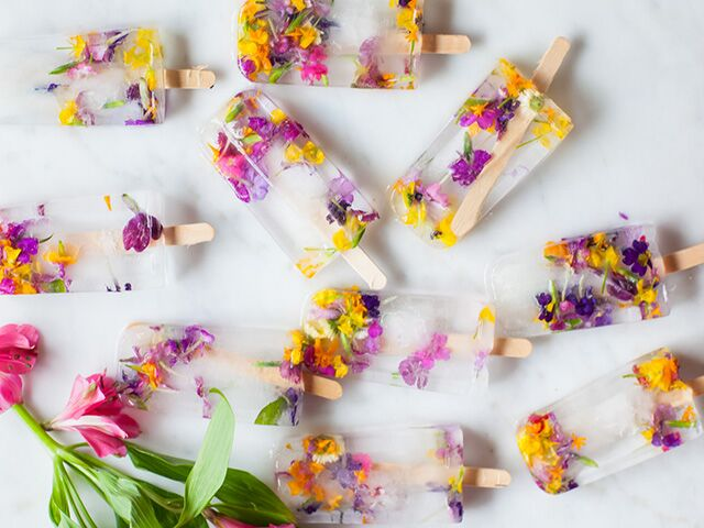 Floral Ice Pops by Nora Rose Mueller from The Nest!