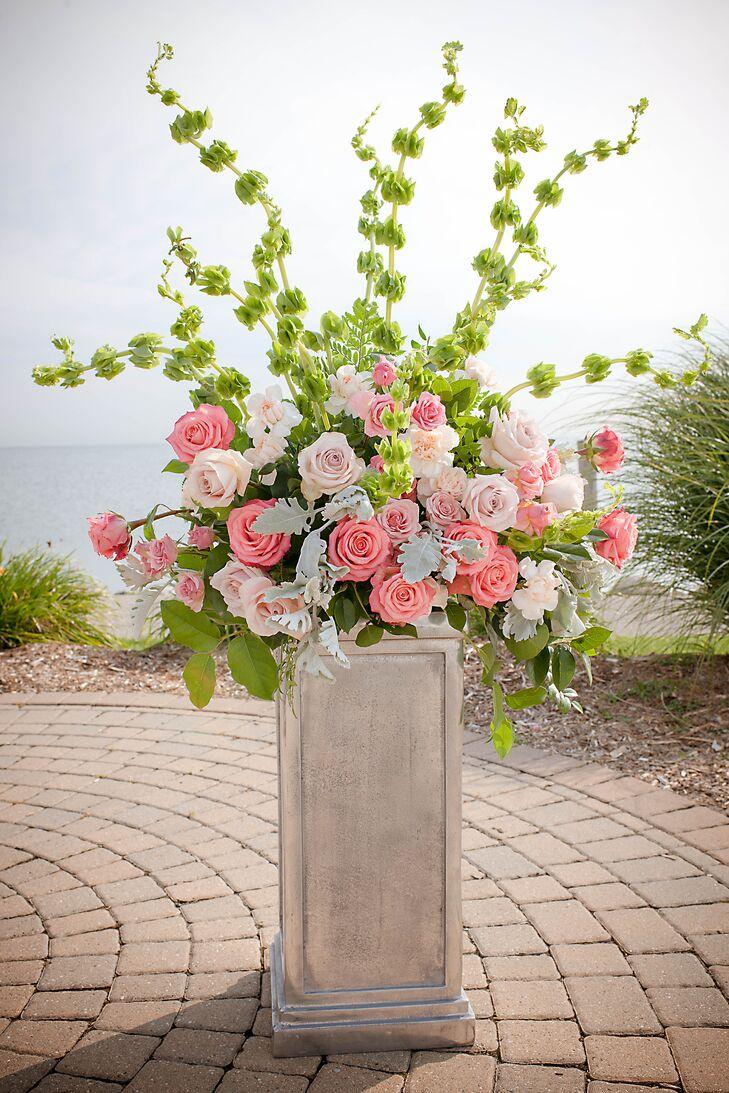 Pastel Pink And Green Flower Arrangements