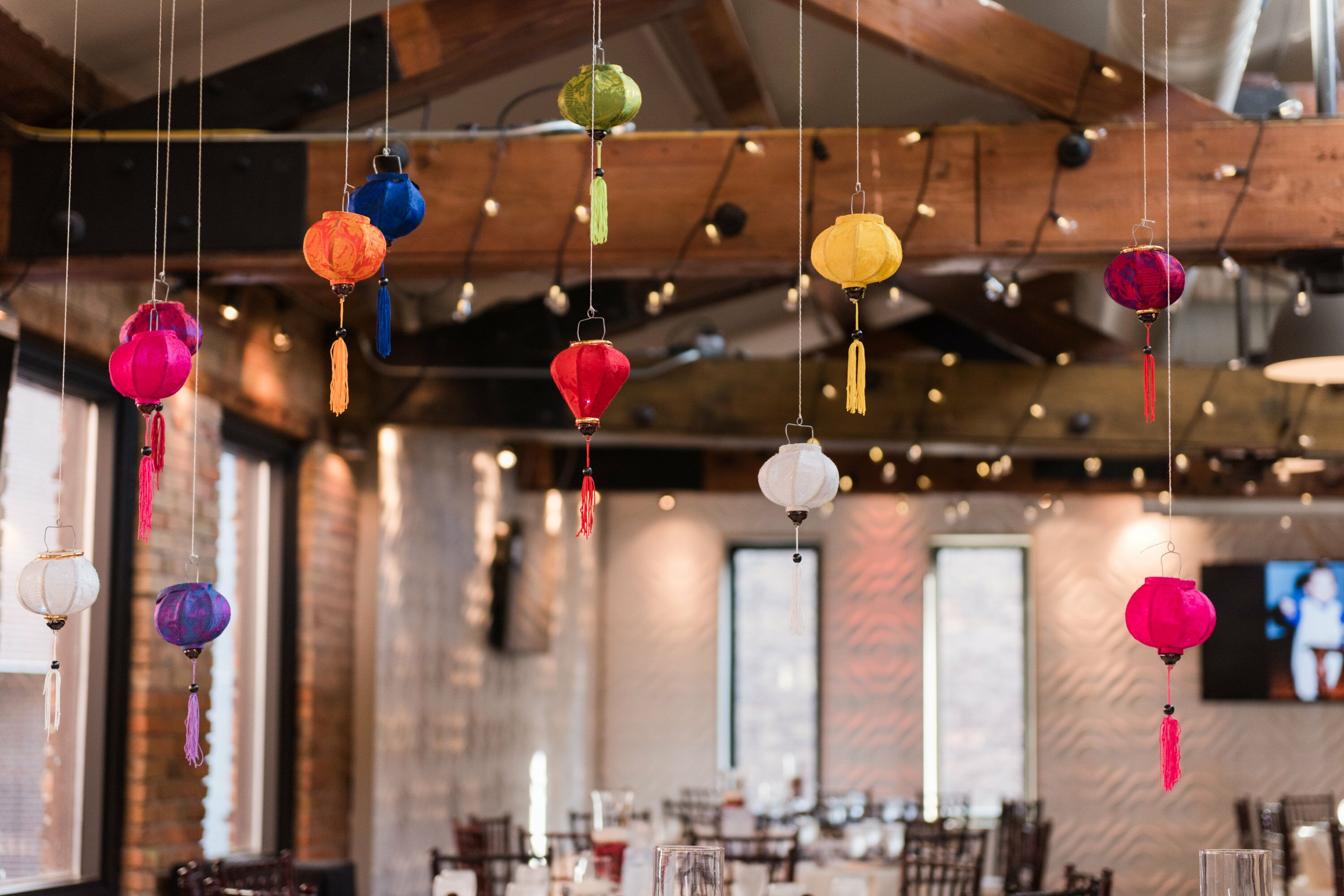 Paper Lanterns Hanging From Ceiling