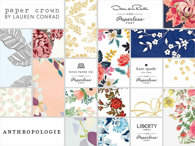 the knot wedding website designer collection