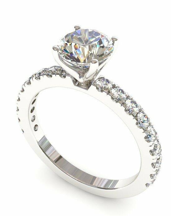 Enchanted Diamonds Pave Petite Round PV3-4W-R Engagement Ring photo