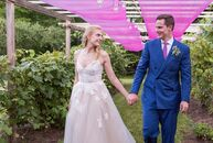 With a romantic garden party in mind, Adrienne Hayes (27 and a marketing manager) and Per von Rosen (32 and a project manager) planned a flower-filled