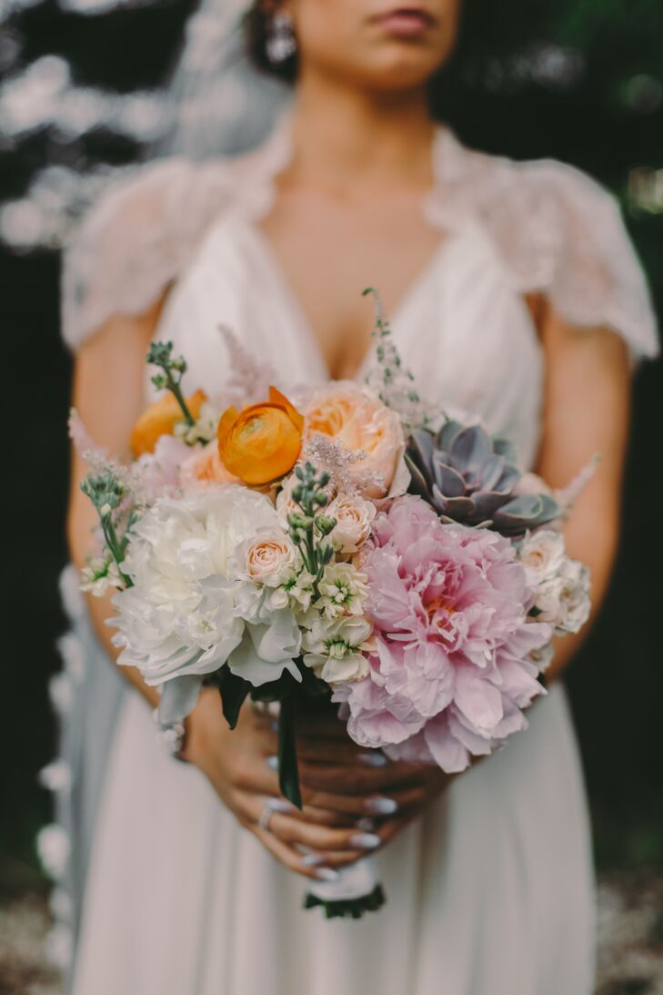 Colorful Giant Peony and Ranunculus Bouquet