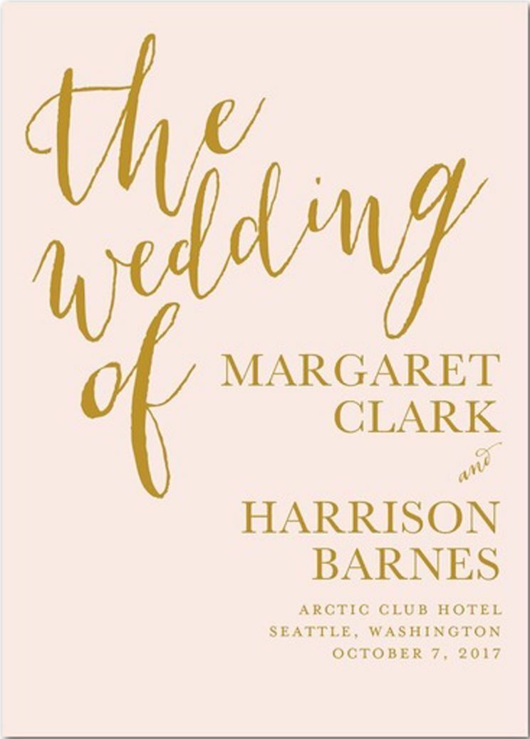baptist wedding program wording