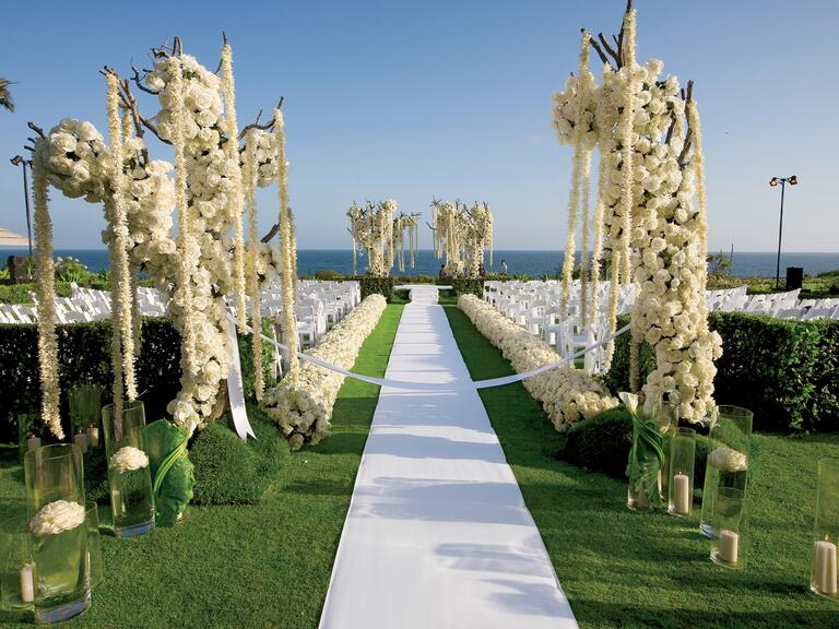 Mark's Garden oceanside wedding ceremony design
