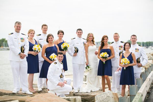 Nautical Bridal Party Attire