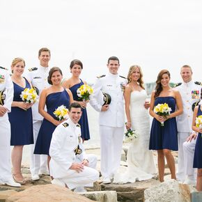 Nautical Bridal Party Attire