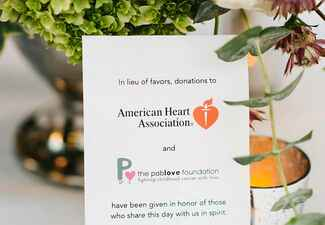 Ways to honor deceased loved ones at your wedding: Luminaire Images / TheKnot.com
