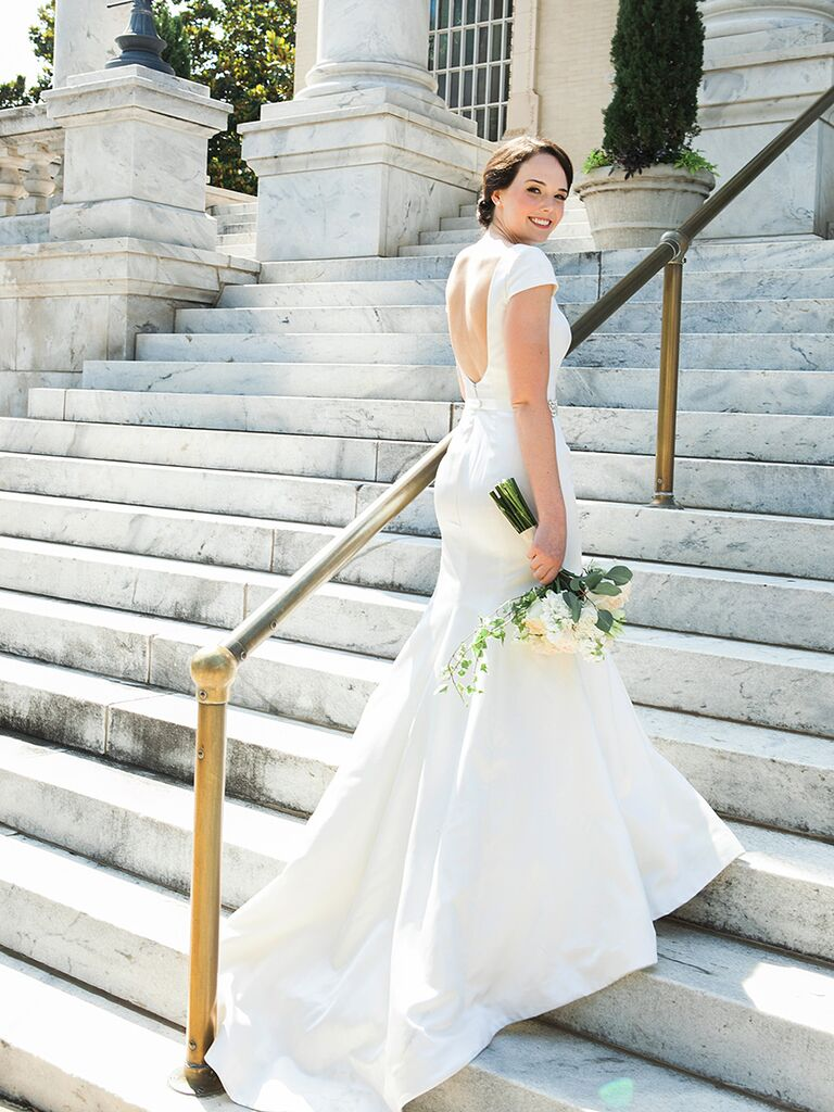 Low Back Rivini Wedding Gown