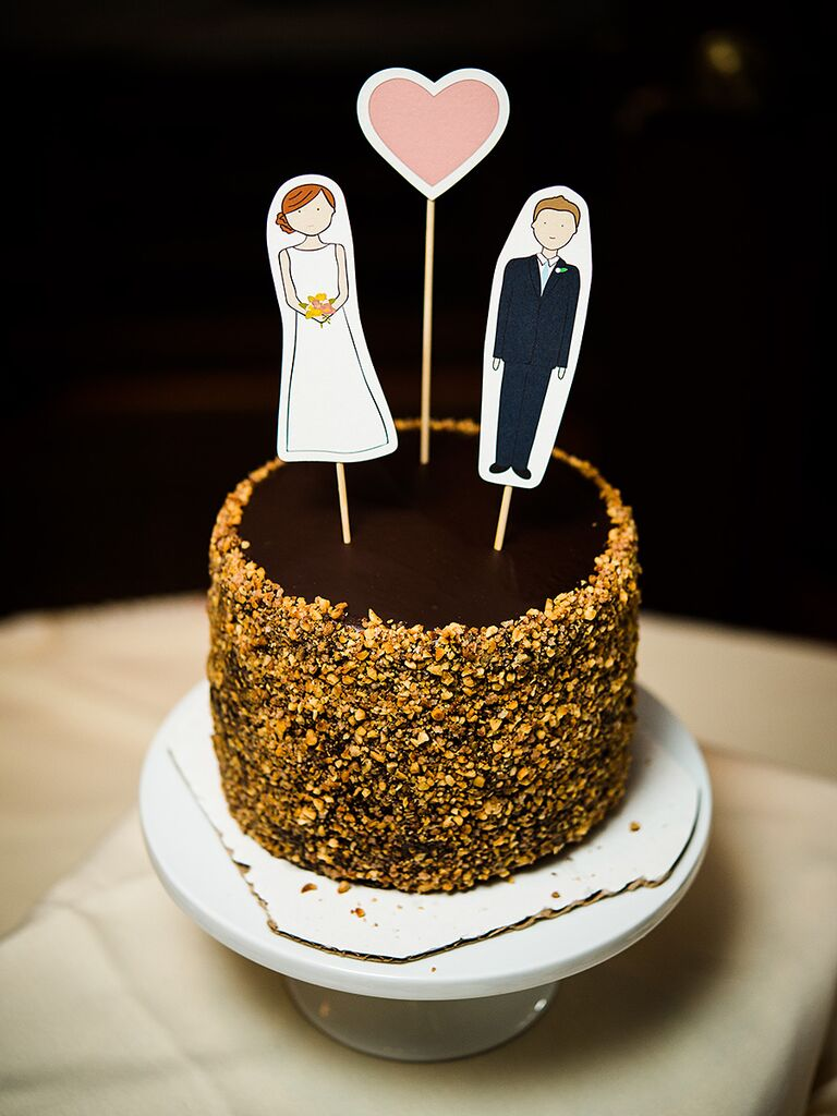 DIY Wedding Cake Topper Idea