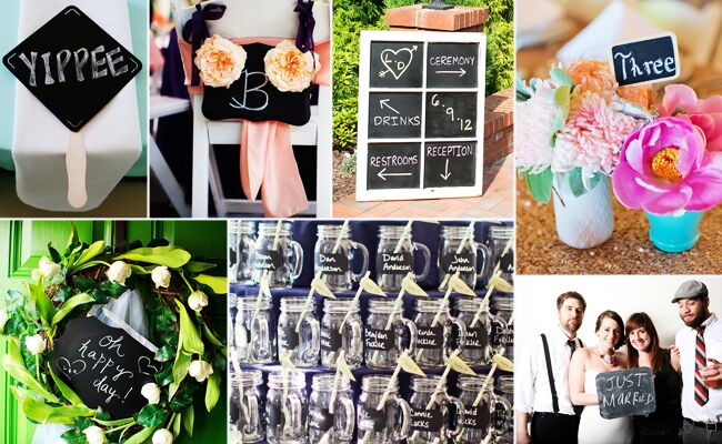 Chalkboard DIY Wedding Ideas // Featured: The Knot Blog