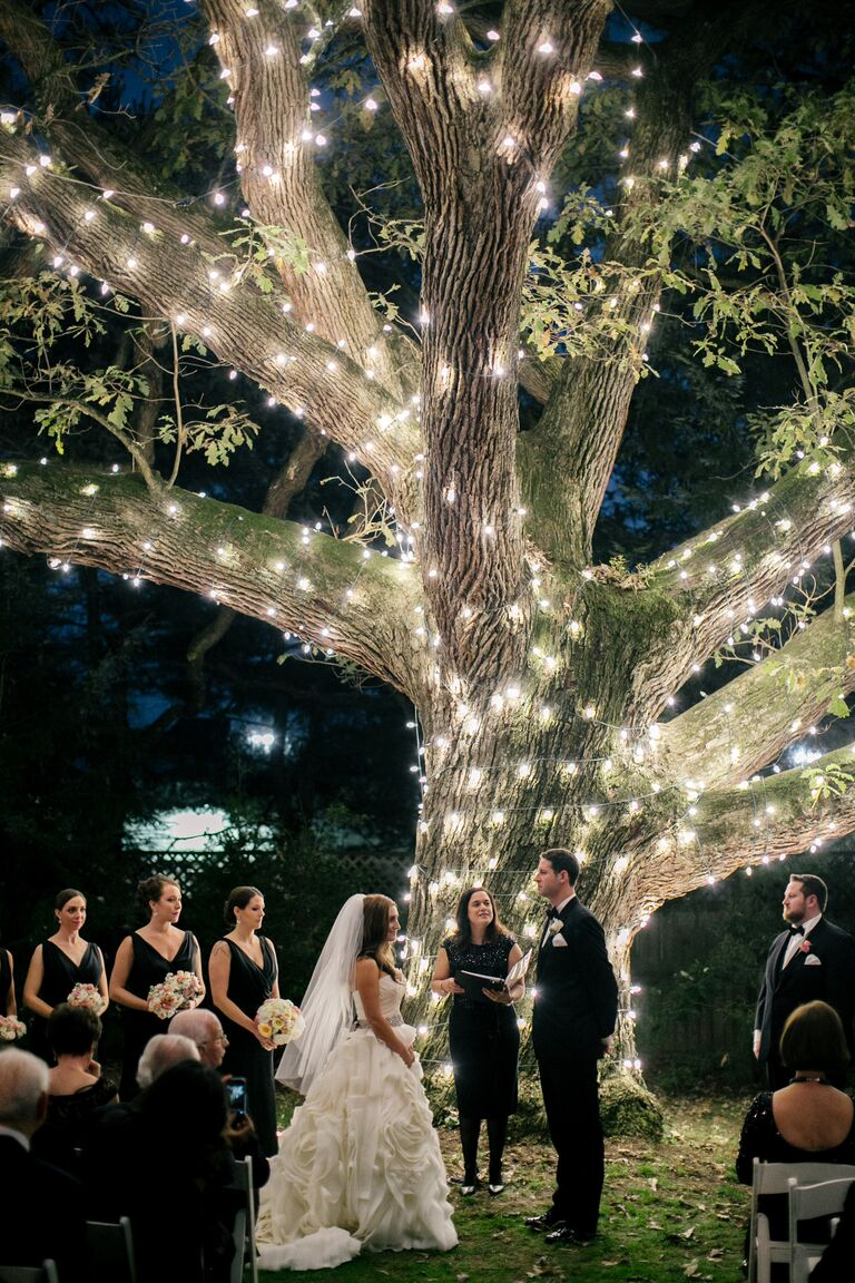 10 outdoor wedding trends were loving now nighttime outdoor wedding ceremony junglespirit Image collections