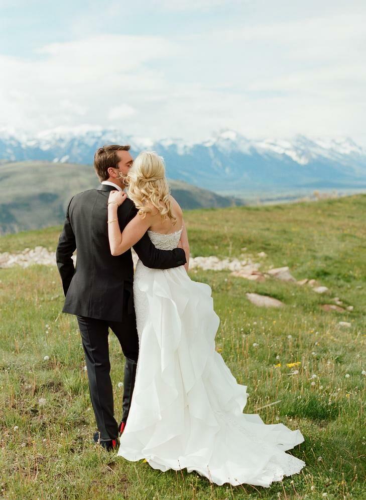 The Most Beautiful Mountainside Wedding Locations Jackson Hole Wyoming