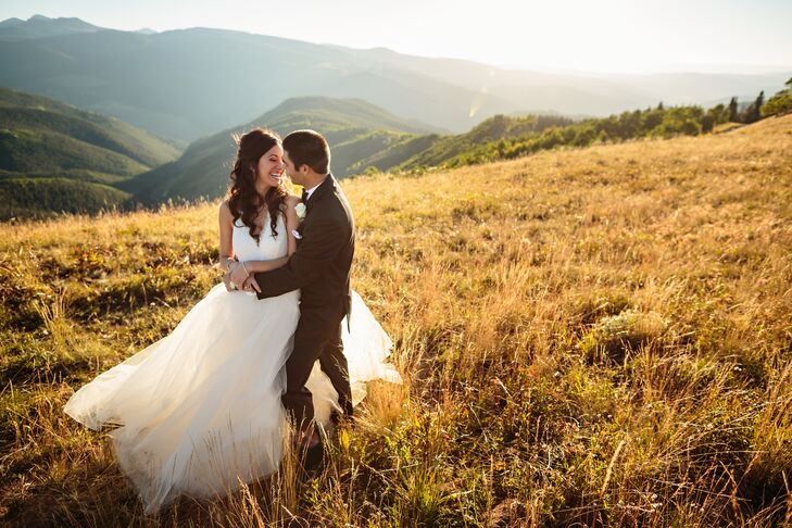 Lauren and Santino exchanged vows on top of Vail Mountain in a glamorous outdoor ceremony followed by a luxurious reception at Donovan Pavilion. The b