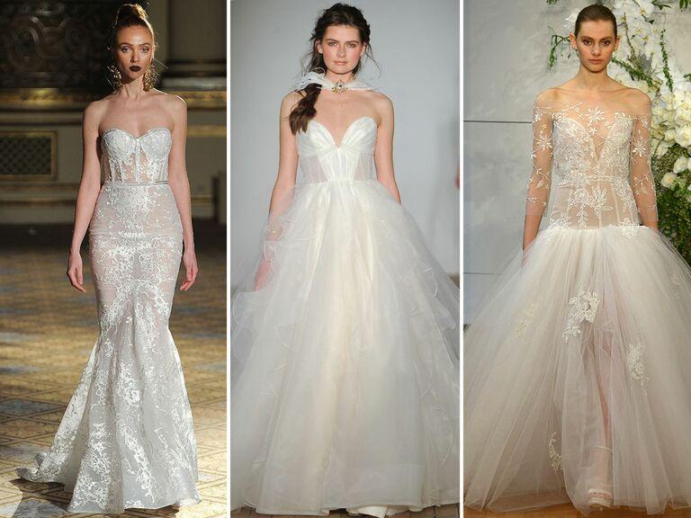 wedding dresses with corset bodices