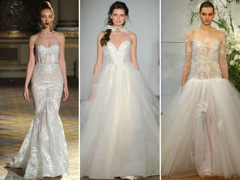wedding dresses with corset bodices