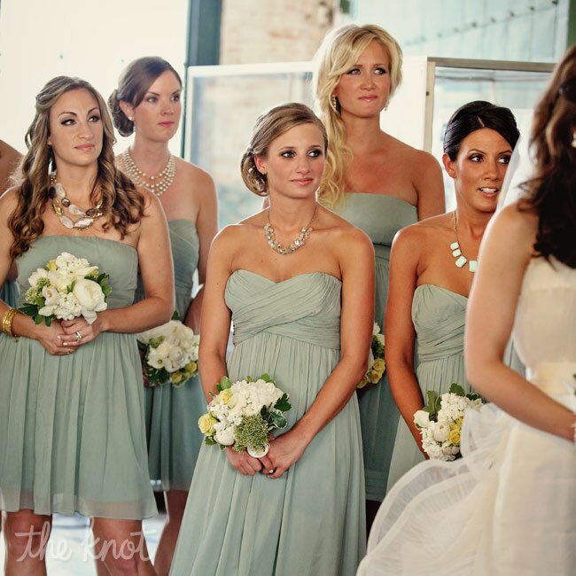 Sage-green Bridesmaid Dresses