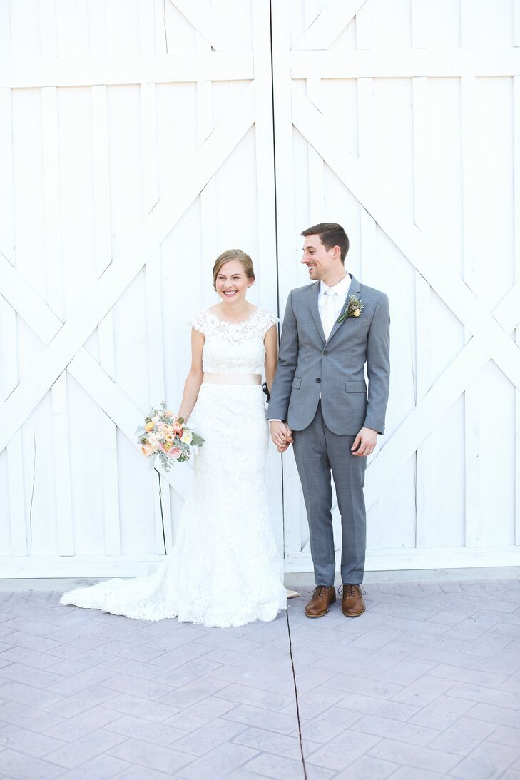 A Sweet And Simple Bride And Groom