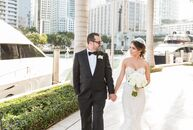 A glamorous, all-white celebration with pops of pink brought Cristina Rodriguez (28 and an office manager) and Omar Armenteros's (40 and an IT company