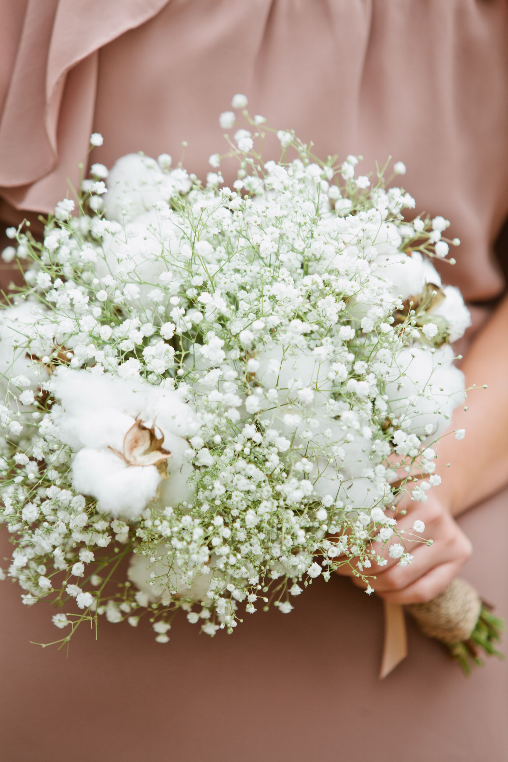 Bouquet of Baby s Breath and Cotton