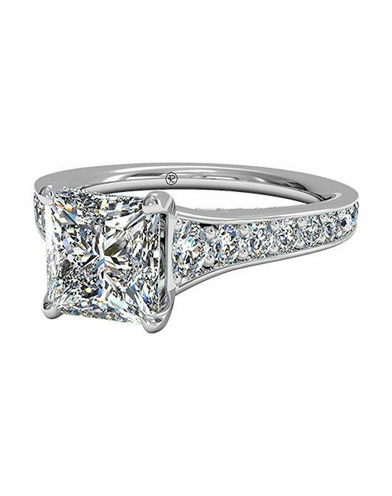Ritani Princess Cut Tapered Pavé Diamond Band Engagement Ring in 18kt White Gold (0.48 CTW) Engagement Ring photo