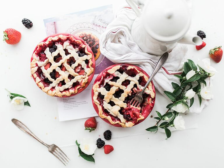 two strawberry pies