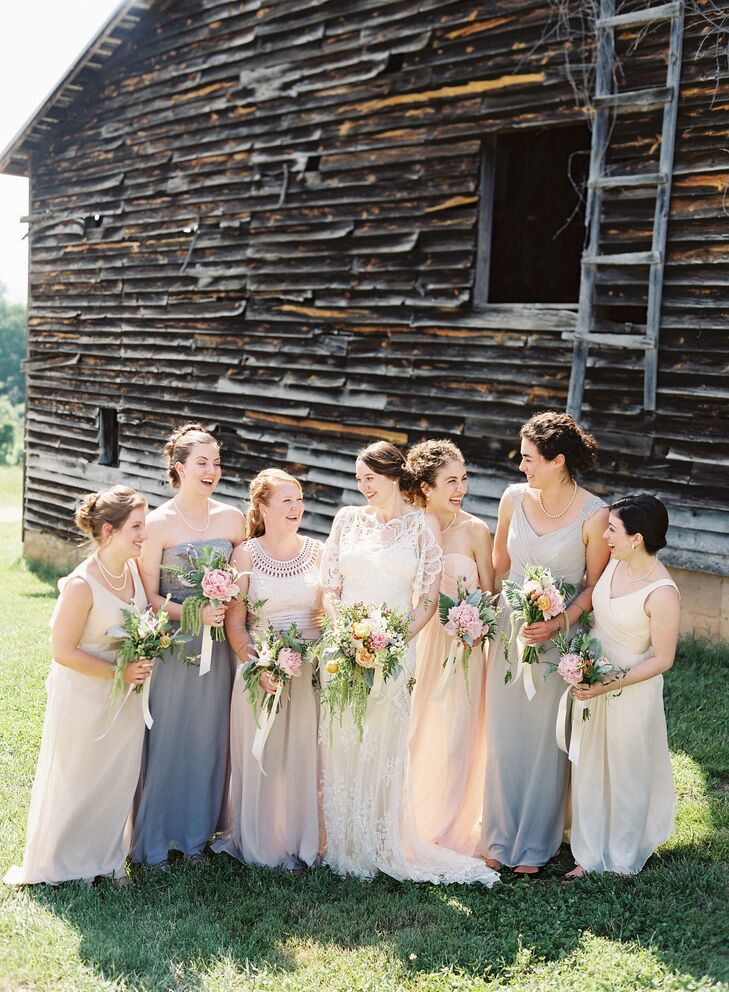 Neutral colored bridesmaid dresses for Neutral dresses for weddings