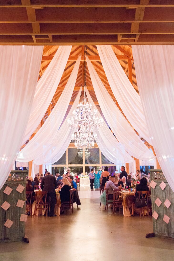 Dramatic Draping and Tiered Chandelier