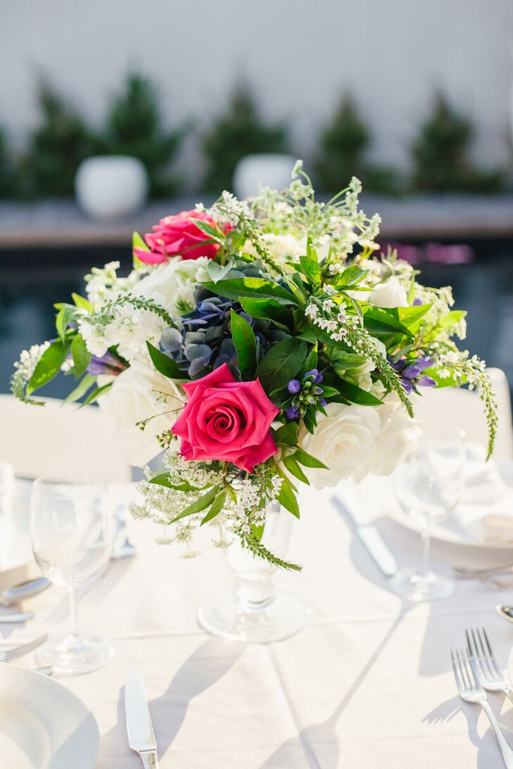 Red Rose Reception Centerpiece